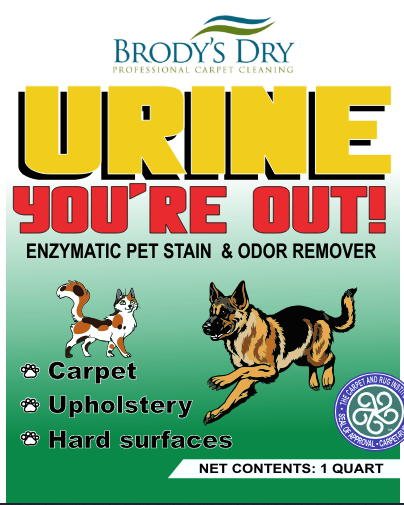 Urine You're Out! Stain & Odor Remover – Brody's Dry Kansas City